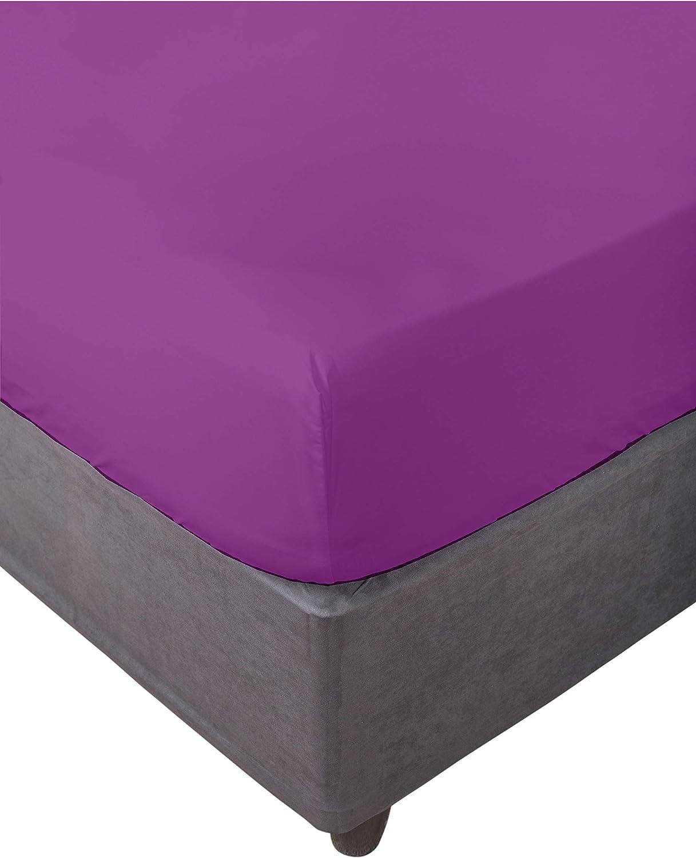 alta calidad S/ábana Bajera ajustable 100/% algod/ón FUCSIA 160 Varias medidas.