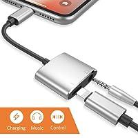Lightning a 3.5mm Adattatore per iPhone X iPhone 8/8 Plus iPhone7 / 7 Plus iPod / iPad. Lightning Aux Adattatore per jack per cuffie Cavo di collegamento Converter Supporto per musica + caricatore Lightning adattatore auricolari accessori adattatore cavo splitter convertitore Compatibile con iOS10.3 / 11