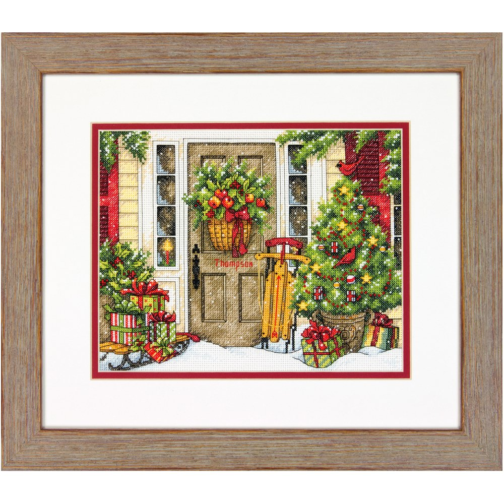 Dimensions Needlecrafts Home for The Holidays, Counted Cross Stitch Kit IDEAL DESIGN ENTERPRISES CO. LTD 70-08961