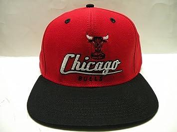e446c423be99b2 Amazon.com : NBA Chicago Bulls Script Red Black 2 Tone Retro ...