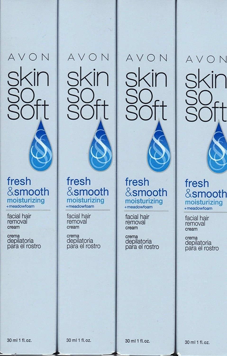 Avon Skin So Soft Facial Hair Removal Cream Lot of 4 product image