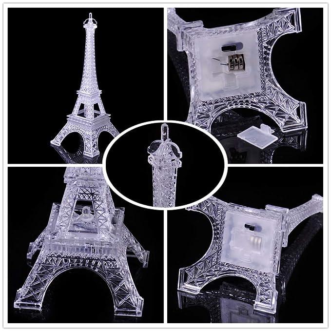 5/pulgadas ledmomo color/é Torre Eiffel Noche Luz 7/colores LED l/ámpara Paris Mode Estilo acr/ílico decoraci/ón regalo