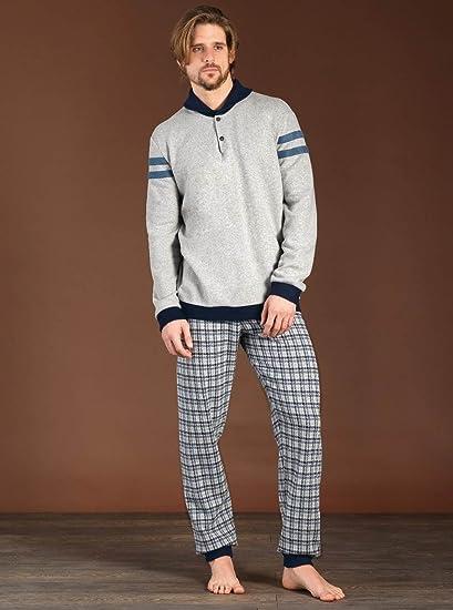 Pijama de hombre a Serafino de forro polar azul turquesa 48