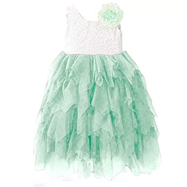 Amazon.com  Miss Bei Lace Back Flower Girl Dress 555568bd3e3d