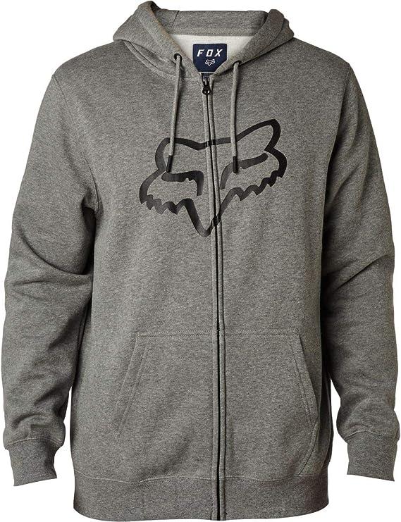 Fox Mens Standard Fit Legacy Logo Zip Hooded Sweatshirt