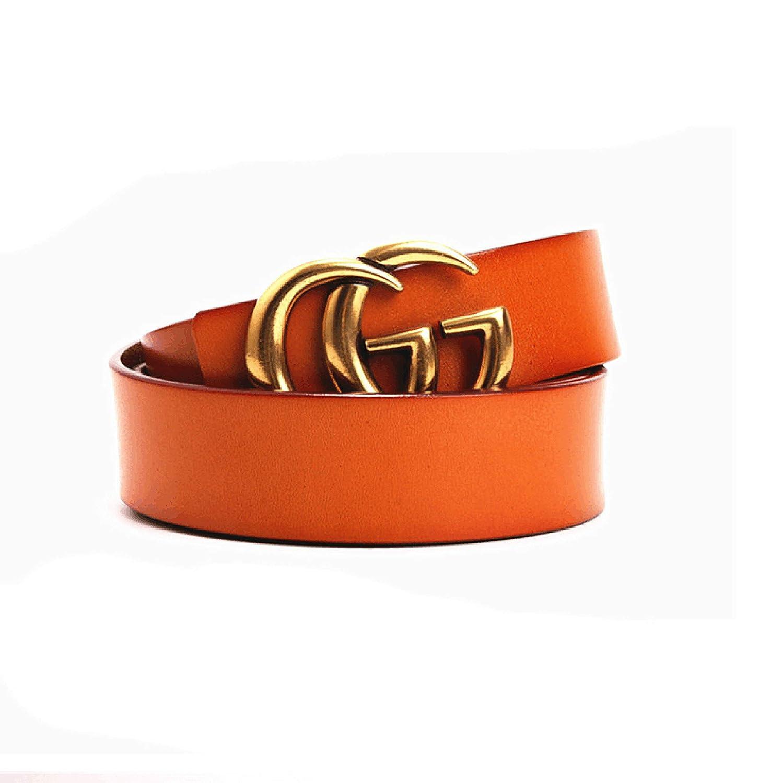 Vintage buckle CG+GC@Unisex belt{3.5}Width Cowhide{Black}