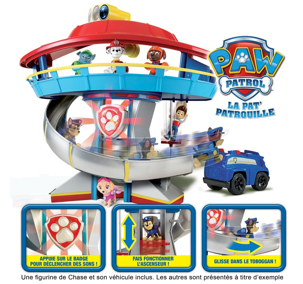 paw patrol 6022632 playset quartier general la pat 39 patrouille jeux et jouets. Black Bedroom Furniture Sets. Home Design Ideas