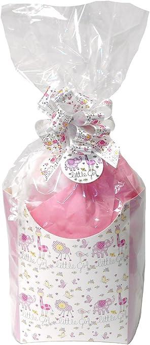 DIY bebé niña rosa caja de regalo Kit – Cesto de regalo de cartón ...