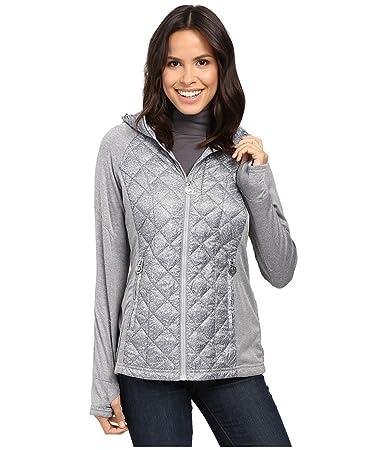 MICHAEL Michael Kors Short Diamond Quilt Down w/ Knit Sleeves MA820286T  Gunmetal Women's Coat