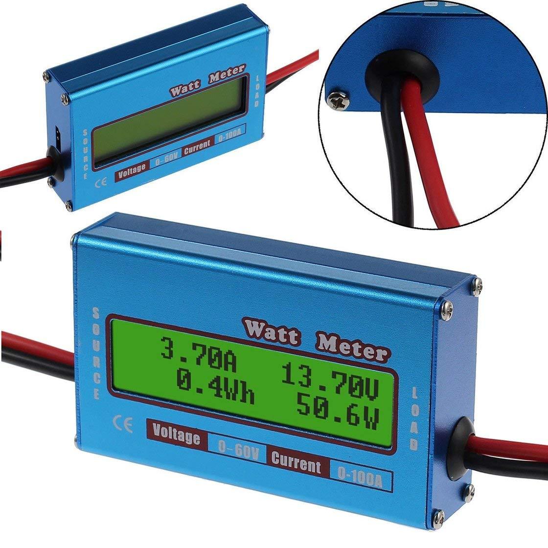 Pr/áctico Ruijanjy LCD Digital del amper/ímetro del volt/ímetro de CA 60-500V Amper/ímetro Volt/ímetro Pantalla 2 en 1 Medidor de Tensi/ón Amperaje con Transformador de Corriente 10A