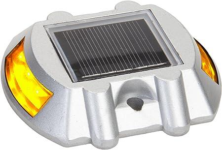 6 PCS Manor House Reusable Revolution Solar LED Marker Road Stud Lights Driveway