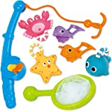 KarberDark Bath Toy, Fishing Floating Squirts Toy And Water Scoop With Organizer Bag(8 Pack), Funcorn Toys Fish Net Game…
