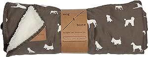 MOG & BONE Plush Blanket Mocca Designer Dog Print