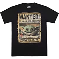 STAR WARS Men's Baby Yoda Child Mandalorian Wanted Poster T-Shirt