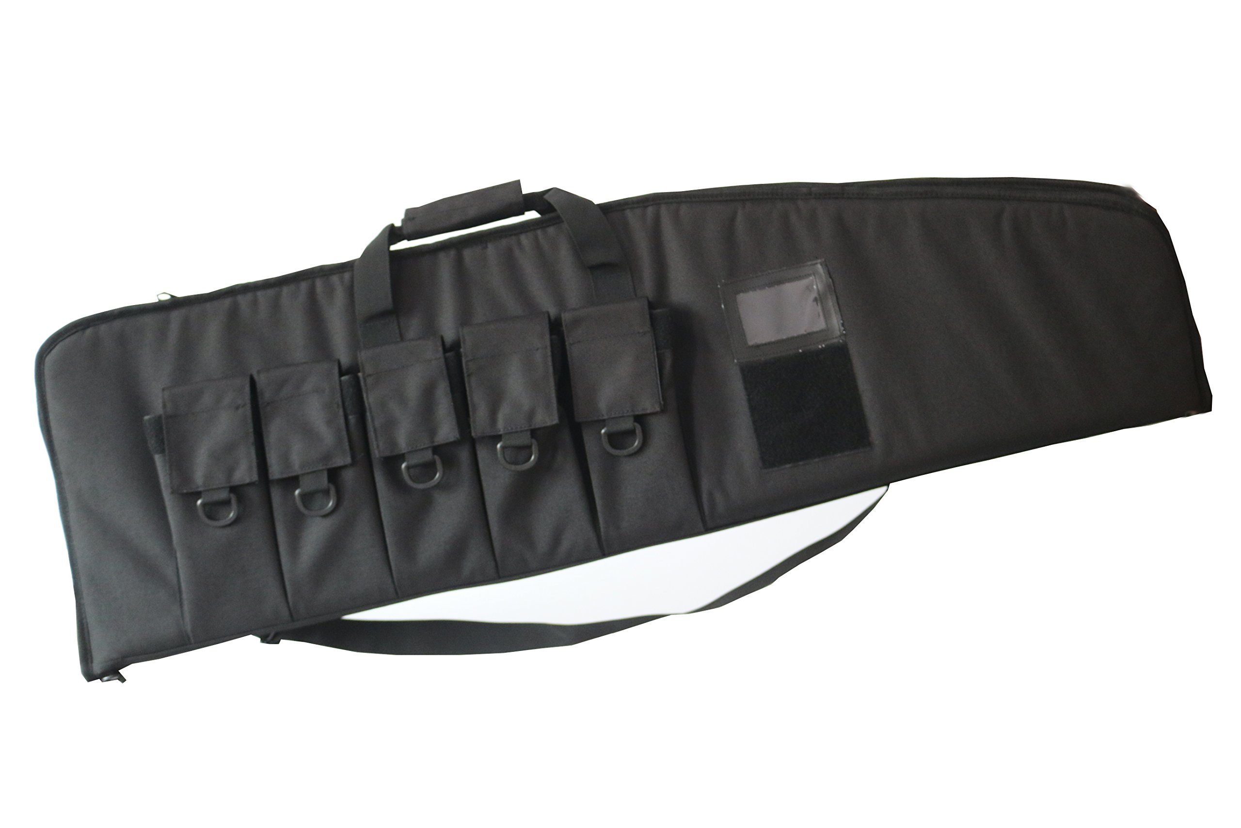 ARMYCAMOUSA Rifle Bag Outdoor Tactical Carbine Cases Water dust Resistant Long Gun Case Bag with Five Magazine Pouches for Hunting Shooting Range Sports Storage and Transport (38'' Black) by ARMYCAMOUSA