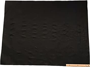 """DARK GRAY Cow Hide Leather 1 Square Foot-12/""""x12/"""" Piece"""