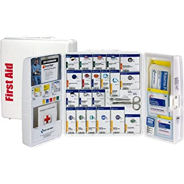best selling Pac-Kit by First Aid Only 1000-FAE-0103 Large Smart Compliance General Workplace First Aid Cabinet with Pain Relief Medication