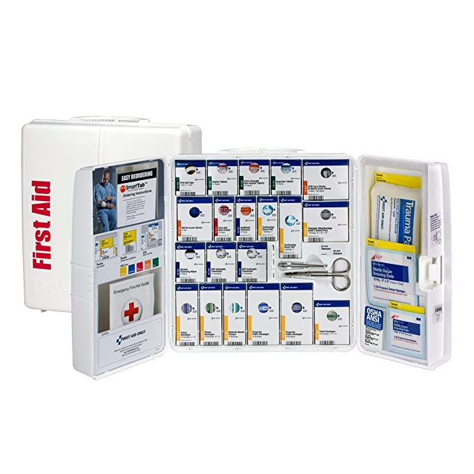 Pac-Kit by First Aid Only 1000-FAE-0103 Large Smart Compliance General Workplace First Aid Cabinet with Pain Relief Medication best first aid kits