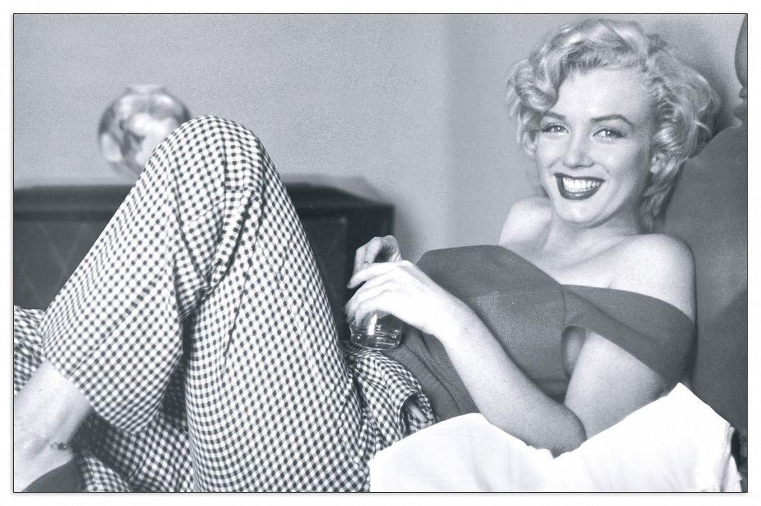 Artopweb Pannelli Decorativi Marilyn Monroe - Bed Quadro, Legno,, 66x1.8x43 cm Eclissi EC14462 stampe; quadri