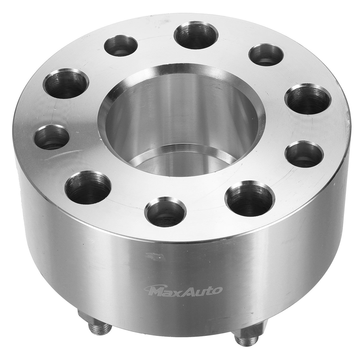 MaxAuto 64mm (2.5'') Thick 5x4.75/5x120.65 Hubcentric Wheel Spacers No Lip 12x1.5 Studs for 79-85 Cadillac Eldorad,03-09 Cadillac XLR,77-87 Chevrolet Impala,90-05 GMC Jimmy Silver (4) by MaxAuto (Image #7)