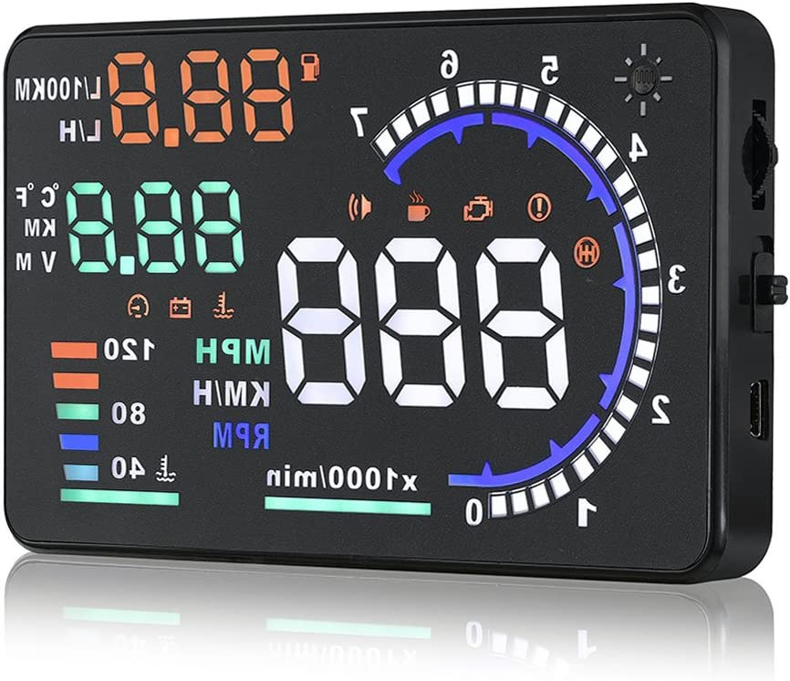 Arestech 5.5 inches A8 OBD2 Windshield HUD Head Up Display