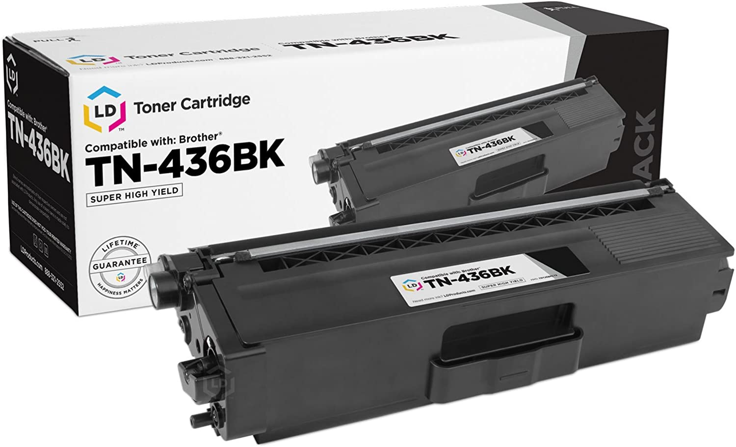 LD Compatible Brother TN436 TN436BK Super High Yield Black Toner 2PK