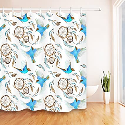 Image Unavailable Not Available For Color LB Dreamcatcher Shower Curtain