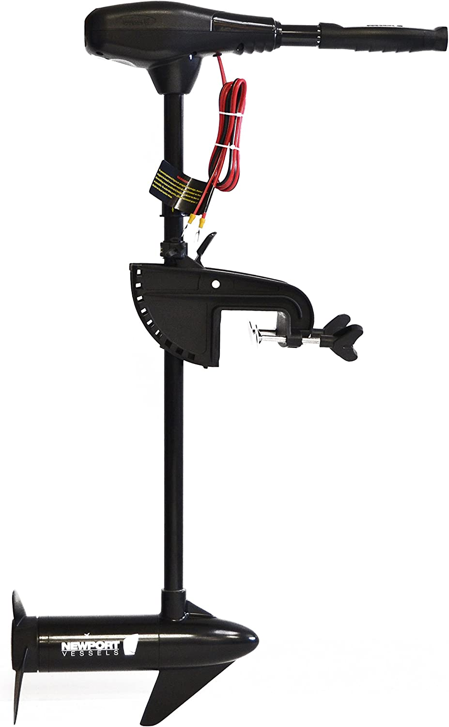 "Newport Vessels NV-Series 46lb Thrust Saltwater Transom Mounted Trolling Electric Trolling Motor w/LED Battery Indicator & 30"" Shaft"