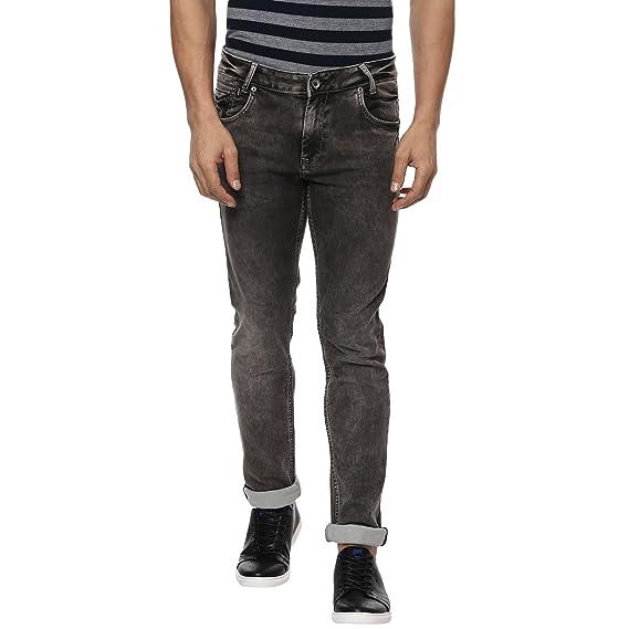 56cccb268e48 Mufti Black Stone Super Slim Denim Deluxe  Amazon.in  Clothing ...
