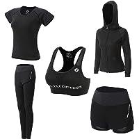 JULY'S SONG Conjunto Deportivo Mujer Conjunto Yoga 5 Piezas Conjuntos Deportivos para Mujer Yoga Fitness Deporte…