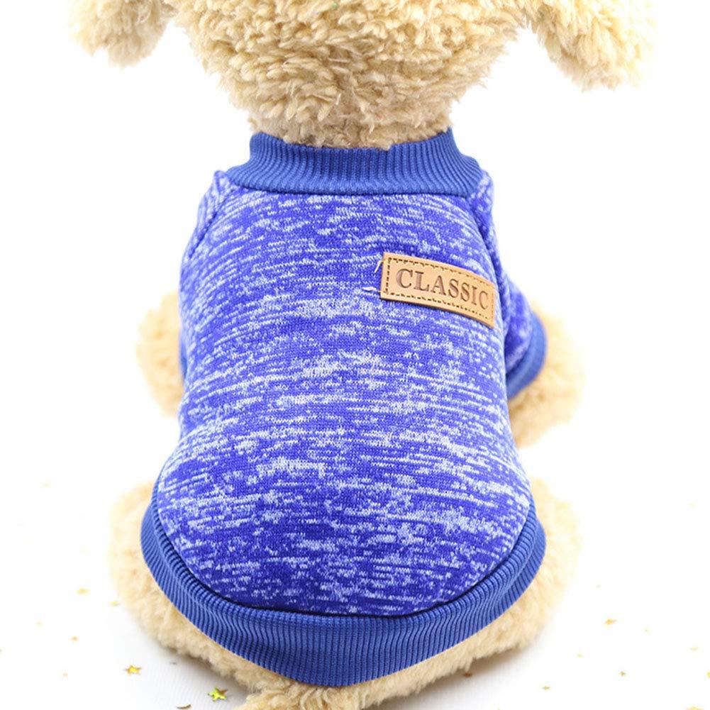 LPxdywlk Invierno C/álido Hilo De Lana Su/éter para Perros Su/éter Gato Chaqueta Abrigo Mascota Corte Ropa Abrigadora Suministro Gris XXL