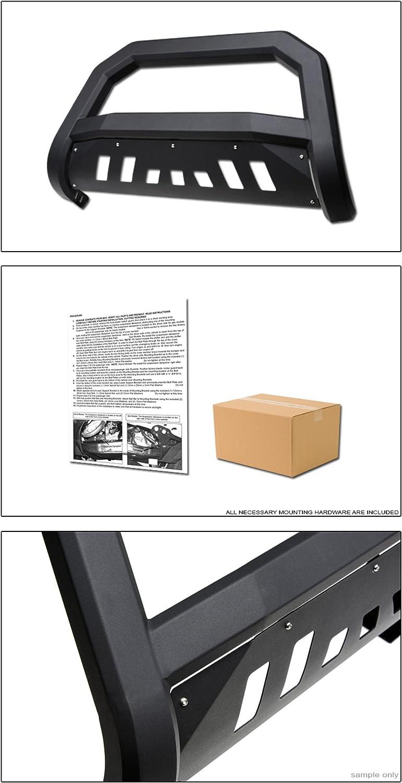 VXMOTOR for 1997-2004 Dodge Dakota//for 1998-2003 Durango Matte Black AVT Edge Bold Series Bull Bar Brush Push Front Bumper Grill Grille Guard