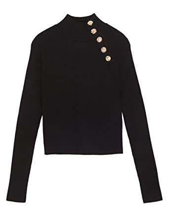 64b2dc4d8078 Zara Femme Pull côtelé à Boutons 3519 100  Amazon.fr  Vêtements et ...