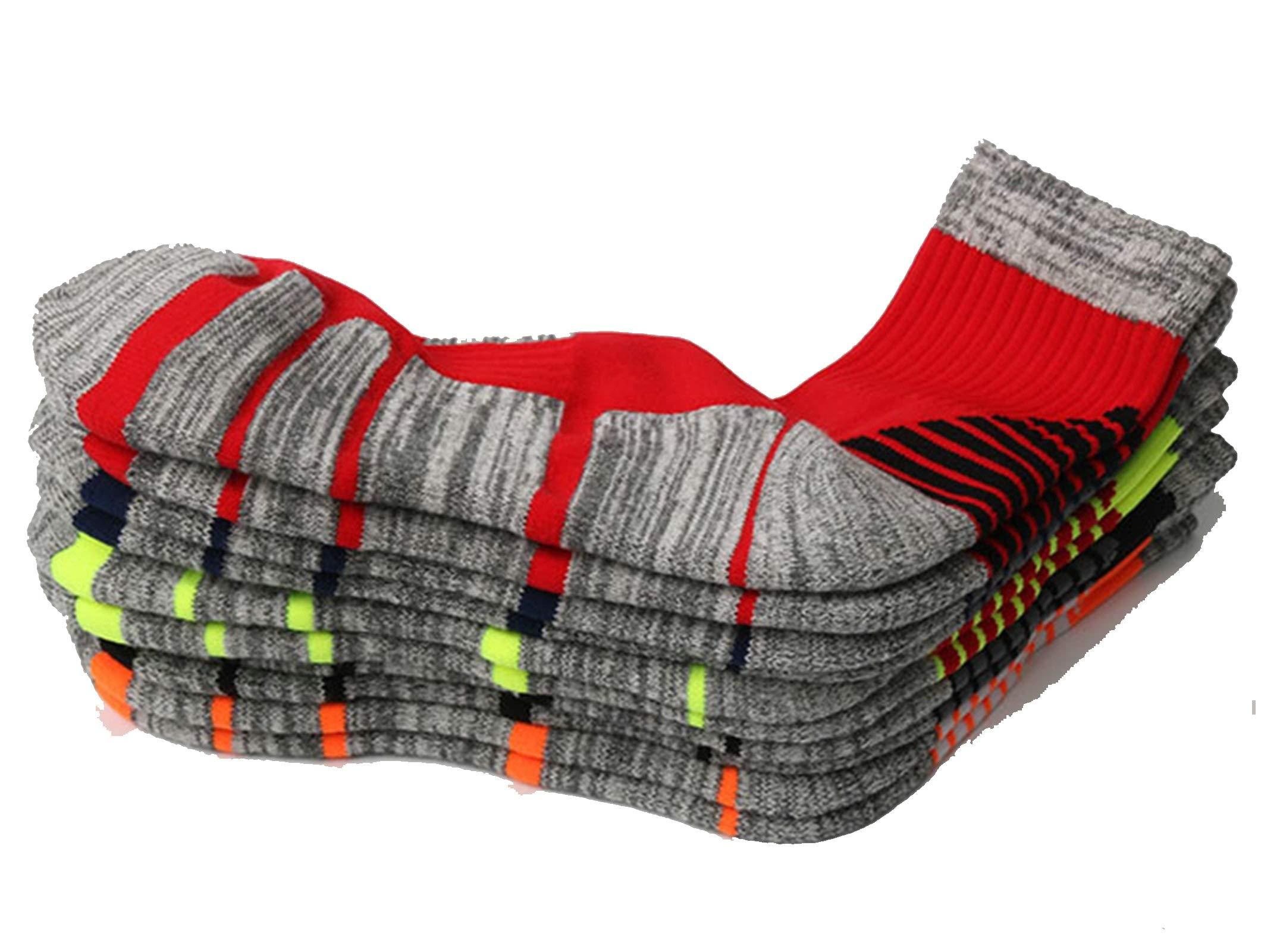 Thick Hiking Hiking Socks Suction Sweat Fall Winter Size L 39-45 Red Black Orange Black Orange 5Pair
