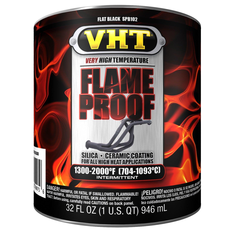 VHT SPB102 Flameproof Coating Flat Black Quart, 32. Fluid_Ounces