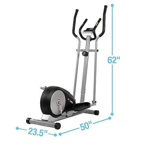 Magnético máquina elíptica Trainer W/pulso Monitor LCD y Grips por efitment - E006: Amazon.es: Deportes y aire libre