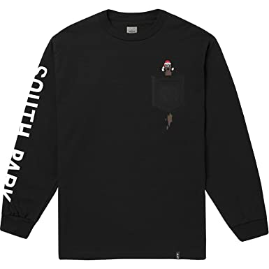 e2e49abce9acf Amazon.com: HUF Men's Sp Mr Hanky L/s Pocket Tee: Clothing