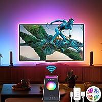 Alexa USB Tiras LED TV 3M, Luces de LED WiFi inteligente Bluetooth Sync con Música, Control de App y Voz Compatible con…