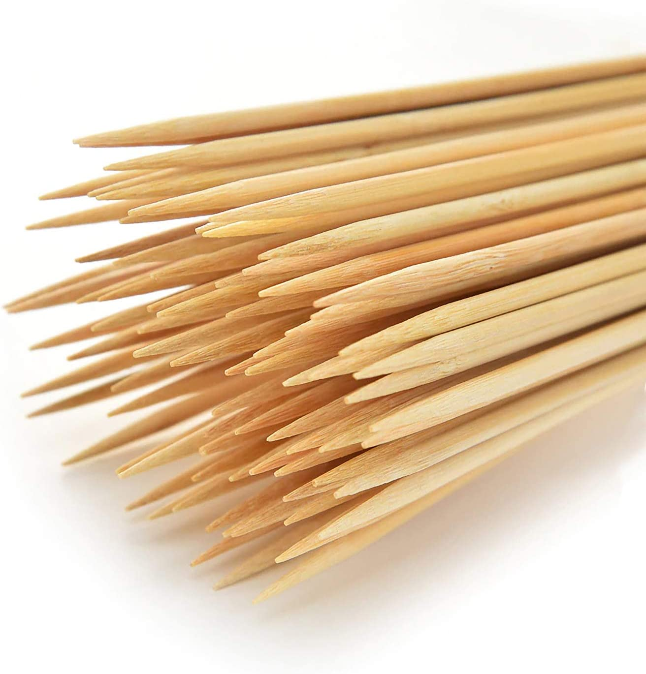 SAILAVY 100PCS Natural Bamboo Skewer Sticks, 12IN (Φ= 4mm) Premium Wooden Kabob Skewers for Barbecue, Grilling, Corn Dog, Fruit, Appetizer, Chocolate Fountain and Crafting