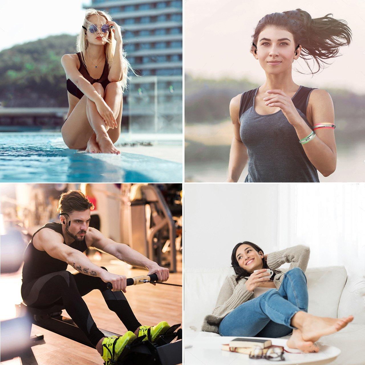 3m Subacu/ático para Nadar Auriculares De Nataci/ón De 8gb con Bluetooth 4.2 FM Tayogo Mp3 Acuatico Ipx8