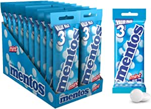 Mentos Mint Candy Roll, 20 x 3 Roll Packs (112.5 g per 3-pack)