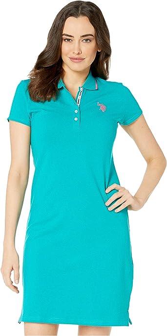 U.S. Polo Assn. Vestido Tipo Polo clásico para Mujer - - Small ...