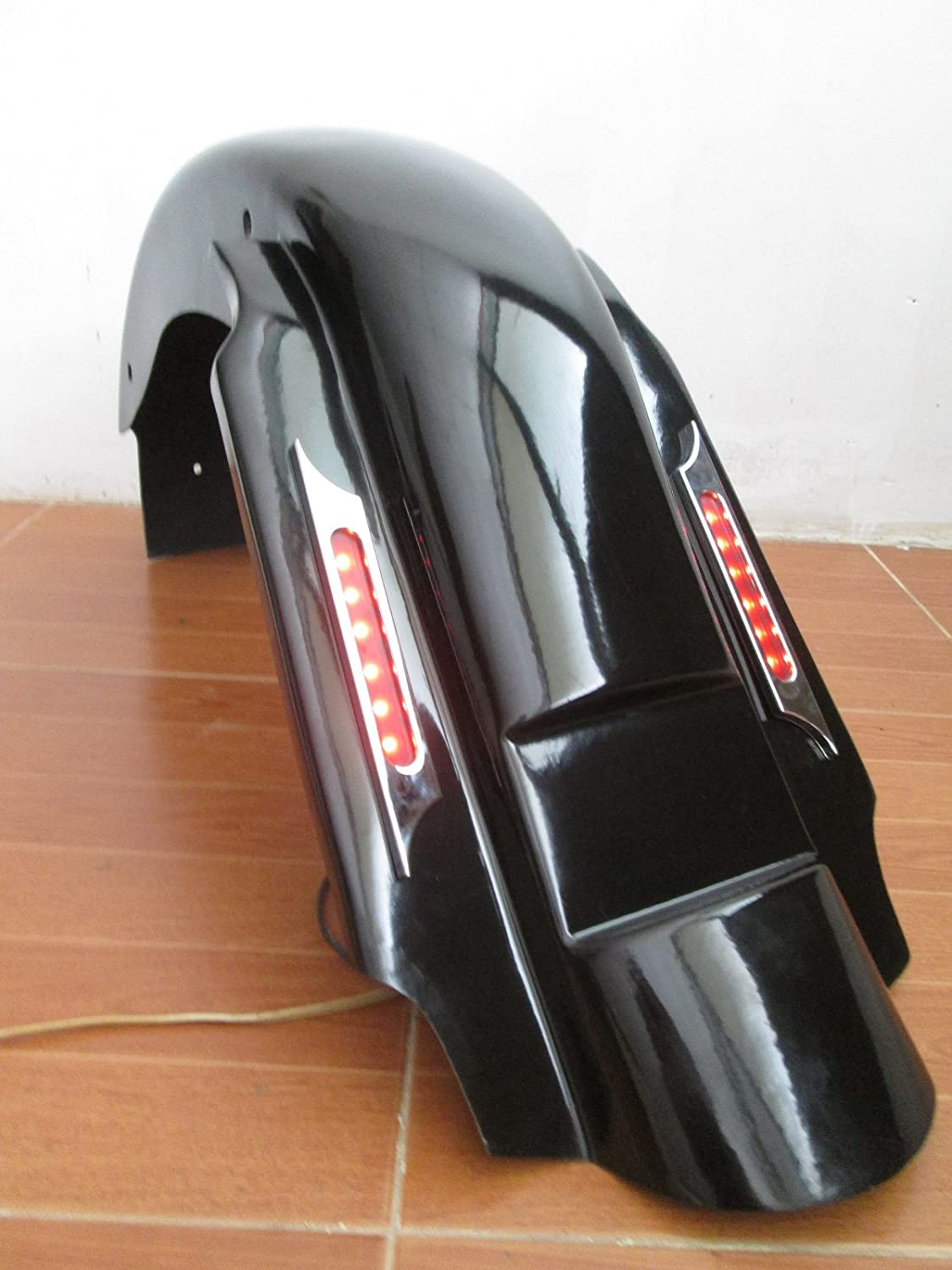 """LN2 BAGGER 4/"""" REPLACEMENT SUMMIT REAR FENDER 4 HARLEY TOURING ROAD KING STREET 93-08 FD6 GC"""