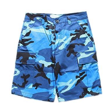 Various Camouflage Mens Shorts Men New Summer Men s Shorts Camo Hip Hop  Shorts 8 Colors Blue 27bcc452c3f