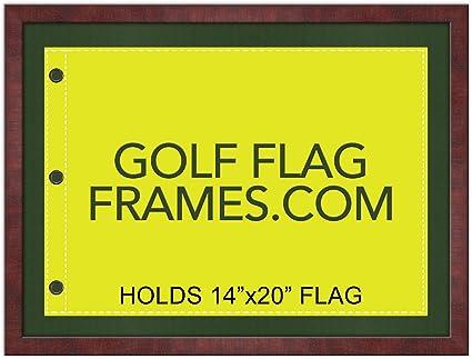 17 x 23 marco de bandera de Golf de caoba, moldura brn-011 ...
