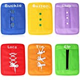 YHZAN Montessori Material Early Learning Basic Life Skills Learn to Dress Boards - Zip, Snap, Button, Buckle, Lace & Tie…