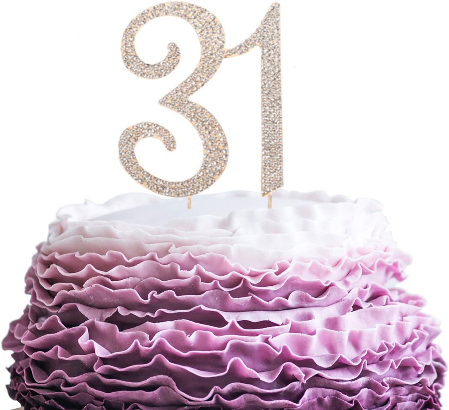 Astonishing Lingpar 31 Years Birthday Cake Topper New Best Crystal Funny Birthday Cards Online Barepcheapnameinfo