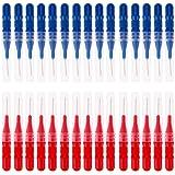 Rrimin Tooth Flossing Head Hygiene Dental Plastic Interdental Brush Toothpick (30 Pcs Style B)