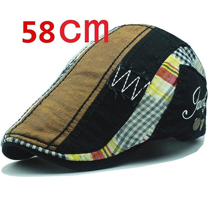 CoolBao Fashion Beret Hat Men Women Childrens Visors Sun Hat Gorras Planas Flat Caps Black