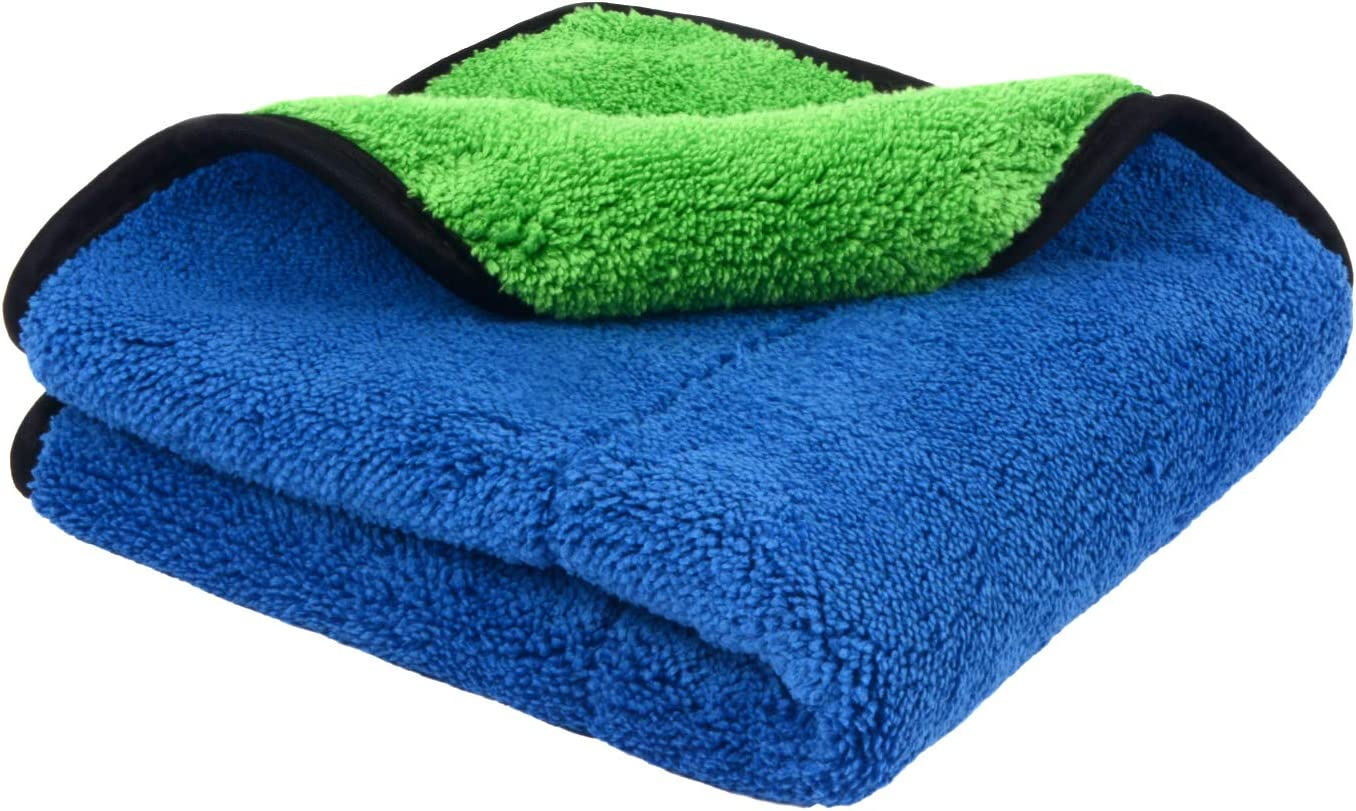 Durable 2 sided Towel Super Thick Plush Microfiber Car Cleaning Cloth Auto Care